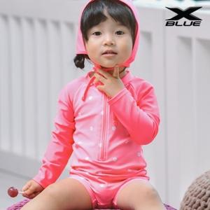 핑크꽃 레슬링(5415) 물놀이 유아 래쉬가드 수영복
