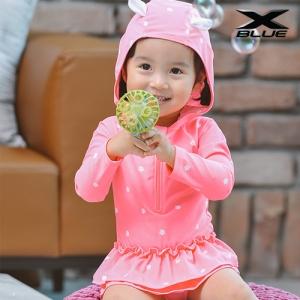 핑크꽃 원피스(5414) 물놀이 유아 래쉬가드 수영복