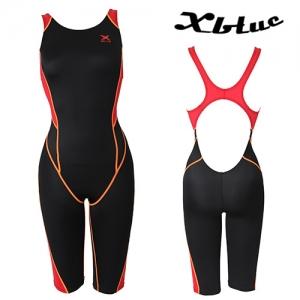 XWX-0019(BKRE) 엑스블루 주니어 반전신 수영복