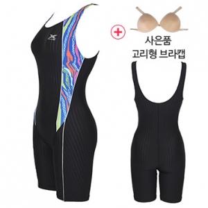 XWU-5031(BLK)+사은품브라캡 엑스블루 아쿠아복 엄마 수영복 빅사이즈