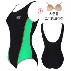 XWU-6001(BKGN)+ 사은품브라캡 엑스블루 아쿠아복 엄마 수영복 빅사이즈