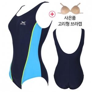 XWU-6001(NVGN)+ 사은품브라캡 엑스블루 아쿠아복 엄마 수영복 빅사이즈