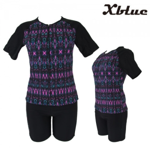 XWU-0254(BKPL) 엑스블루 아쿠아2PC 아쿠아복 엄마 수영복 빅사이즈