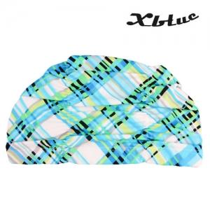 XBL-7301-18 엑스블루 아쿠아 주름나염 수모 수영모