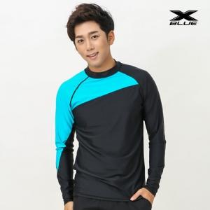 XMT-6107T-BKTU 엑스블루 남성 긴팔 래쉬가드