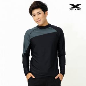 XMT-6107T-BKGY 엑스블루 남성 긴팔 래쉬가드