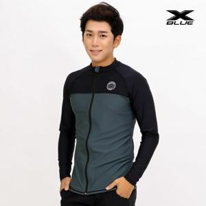 XMT-6106T-BKGY 엑스블루 남성 긴팔 집업 래쉬가드