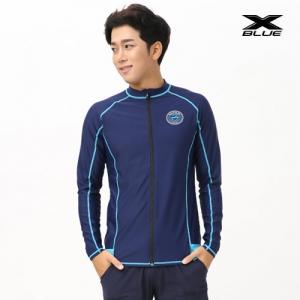 XMT-6105T-NVYU 엑스블루 남성 긴팔 집업 래쉬가드