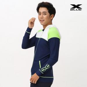 XMT-6104T-NVGN 엑스블루 남성 긴팔 후드집업 래쉬가드