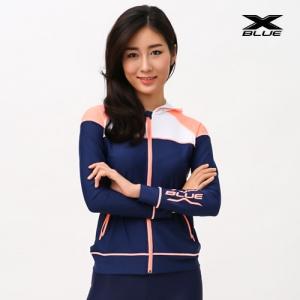 XWT-6202T-NVLP 엑스블루 여성 긴팔 후드집업 래쉬가드