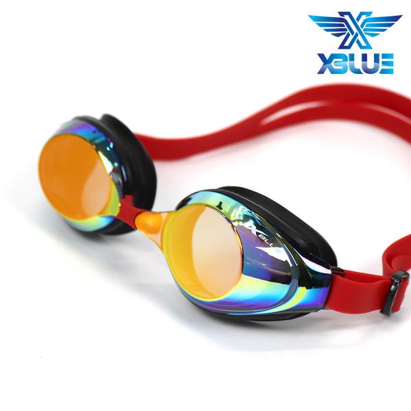 엑스블루 수경 패킹/미러렌즈 XB24MR[RED]