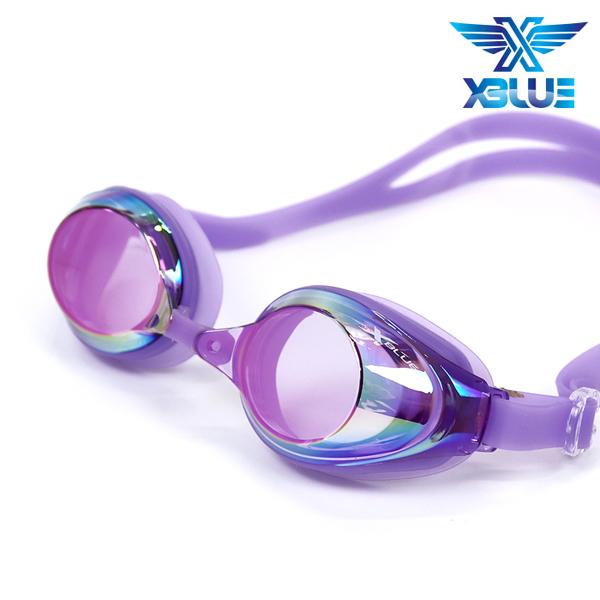 엑스블루 수경 패킹/미러렌즈 XB24MR[PPL]