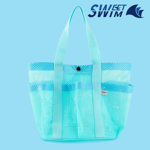 스윗스윔 STS-1905 망사 복주머니 가방(민트-Single)
