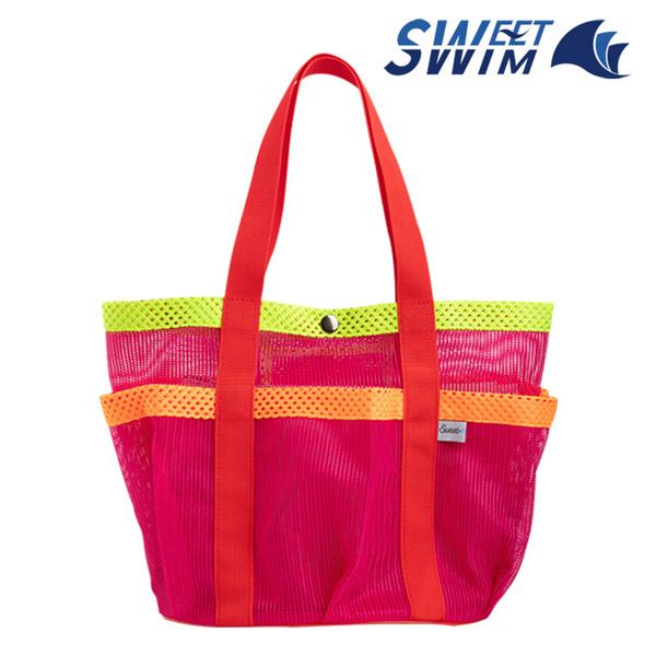 스윗스윔 STS-1905 망사 복주머니 가방(핑크)