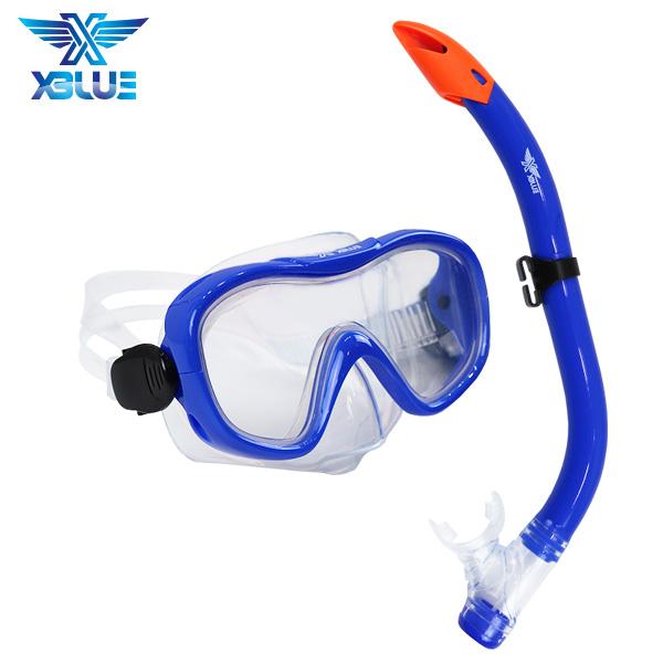 XBL-1501-BLUE 엑스블루 주니어 마스크 스노클 세트