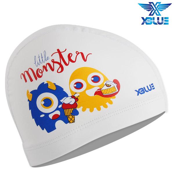 XBL-8215-WHT 엑스블루 X-BLUE 주니어 우레탄수모 몬스터