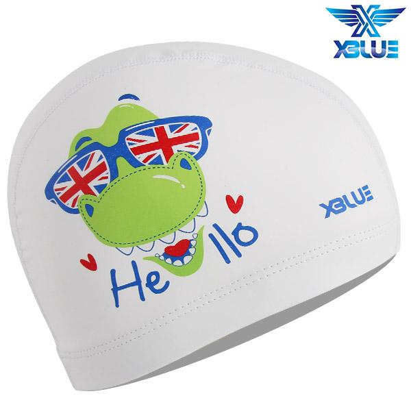 XBL-8220-WHT 엑스블루 X-BLUE 주니어 우레탄수모 헬로악어