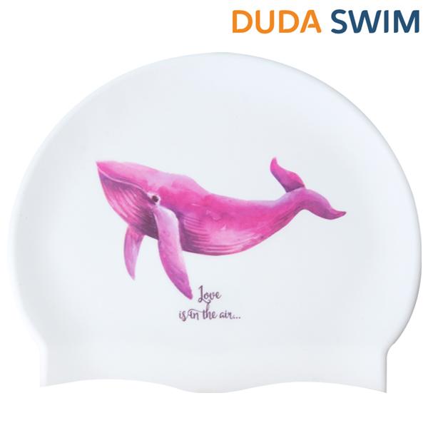 두다수모-흰수염고래 핑크 수모 수채화수모 실리콘수모