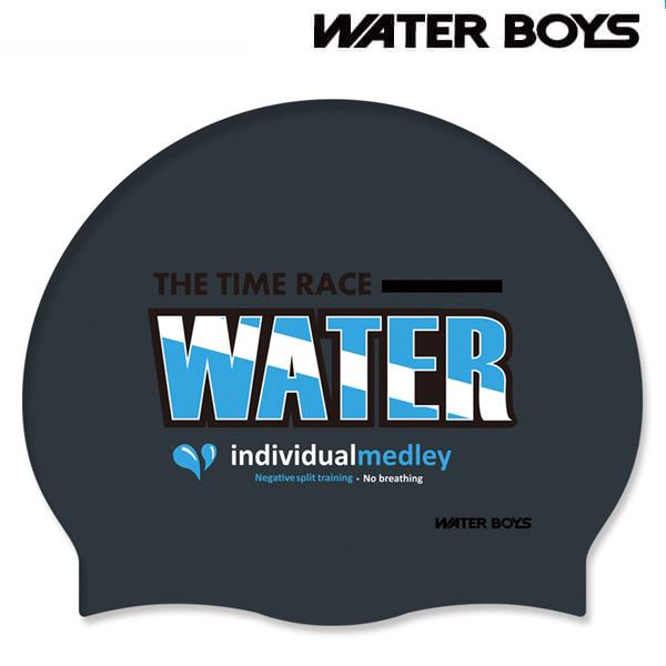 워터보이즈 물방울-BLK 워터보이즈 실리콘 수모 수영모 수영용품