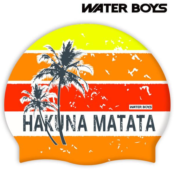 하쿠나마타타-ORG 워터보이즈 실리콘 수모 수영모