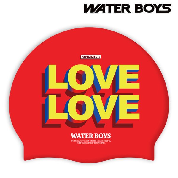 LOVEx2-RED 워터보이즈 실리콘 수모