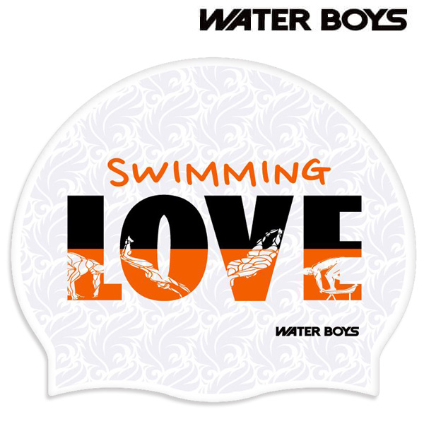 SWIM LOVE-WHT 워터보이즈 실리콘 수모