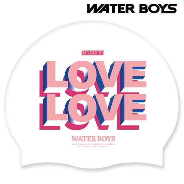 LOVEx2-WHT 워터보이즈 실리콘 수모 수영모 수영용품