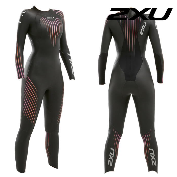 2XU 2020 Womans Propel P1 Wetsuit-BLACK SUNSET OMBRE 철인3종 슈트