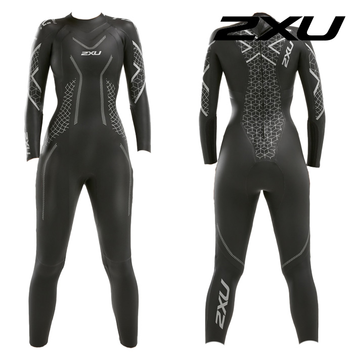 2XU 2020 Womans Propel P2 Wetsuit-BLACK TEXTURAL GEO 철인3종 슈트