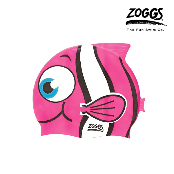ZOGGS 주니어 캐릭터 실리콘 수모 (PINK)