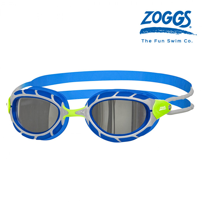 ZOGGS 프레데터 미러 주니어-GREEN-BLUE-MIRROR 수경