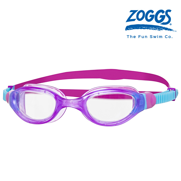 ZOGGS 팬텀 2-0 주니어-PURPLE-BLUE-CLEAR 수경