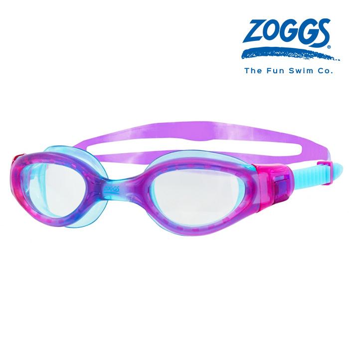 ZOGGS 팬텀 엘리트 주니어-PURPLE-LIGHT BLUE-CLEAR 수경