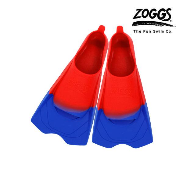 ZOGGS 울트라 블루 핀즈-RED(205-215) 조그스 숏핀 오리발