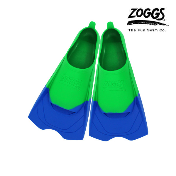 ZOGGS 울트라 블루 핀즈-GRN(240-250) 조그스 숏핀 오리발