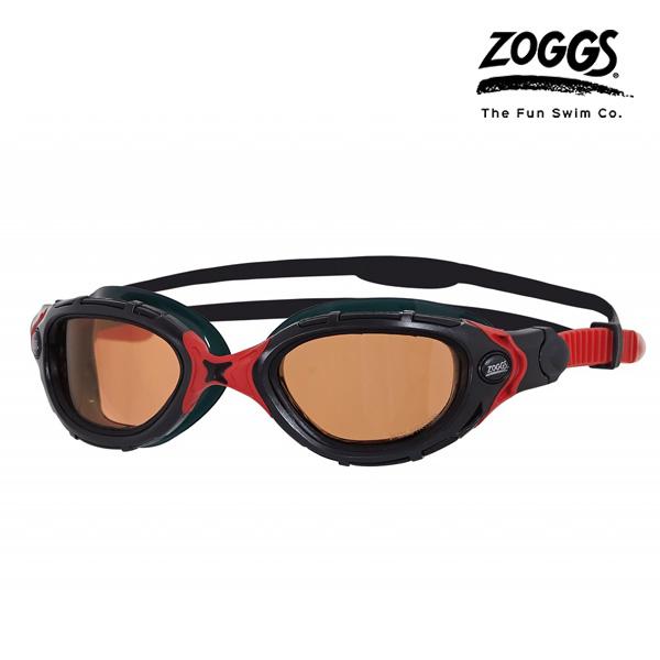 ZOGGS 프레데터 플렉스 폴라이즈드 울트라 수경(BLACK-RED)