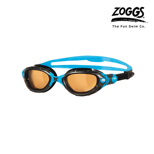 ZOGGS 프레데터 플렉스 폴라이즈드 울트라-BLACK-BLUE 수경