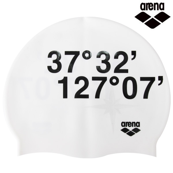 A1AC1AC03 스페이스-WHT 아레나 실리콘 수모 수영모