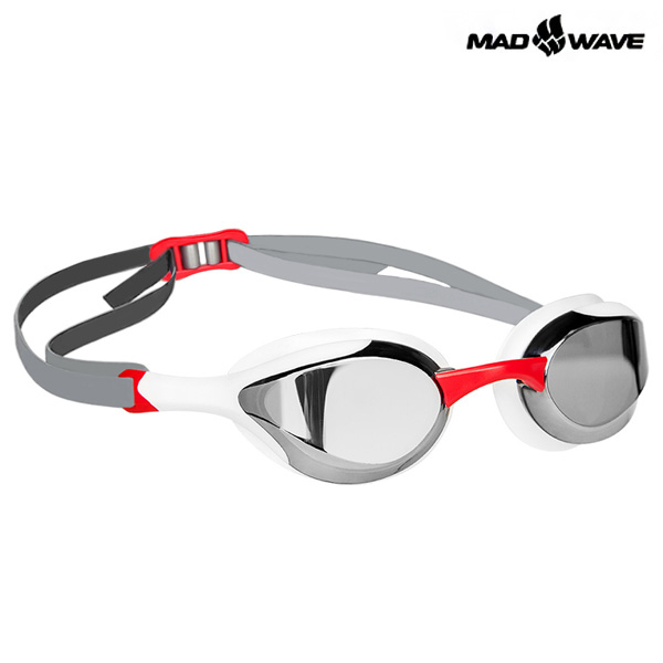 ALIEN MIRROR(RED) MAD WAVE 선수용 패킹 미러 수경