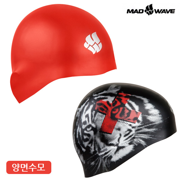 ANIMALS reversible (RED) MAD WAVE 실리콘 양면 수모