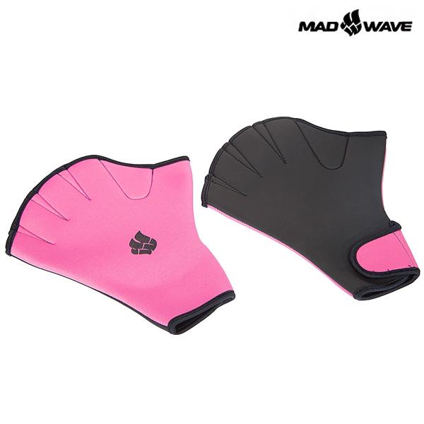 AQUAFITNESS GLOVES(PINK) MAD WAVE 훈련용품 수영 장갑