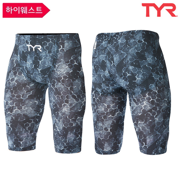 ASTMH6A 088 SUPERNOVA HIGH JAMMER-BLACK GREY 티어 TYR 경기용 5부 수영복