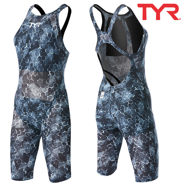 ASTOP6A 088 AVICTOR SUPERNOVA OPEN BACK-BLACK GREY 티어 TYR 경기용 반전신 수영복
