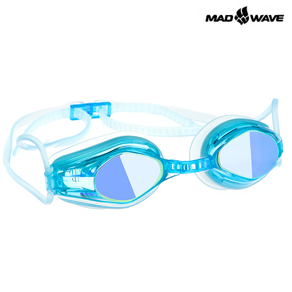AUTOMATIC MIRROR RACING II(TURQUOISE) MAD WAVE 선수용 패킹 미러 수경
