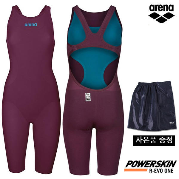 AVFIL94-WINE POWERSKIN R-EVO ONE OPEN BACK (001438448) 아레나 ARENA 반전신 경기용 수영복