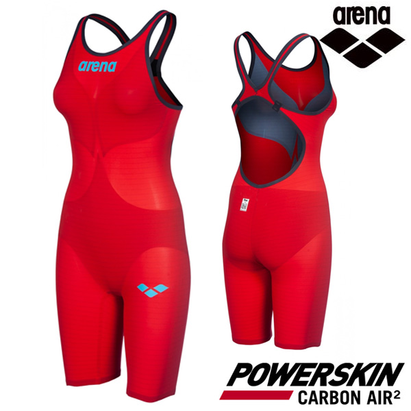 AVFIL99-RED POWERSKIN CARBON AIR2 OPEN BACK (00112845) 아레나 ARENA 반전신 경기용 수영복