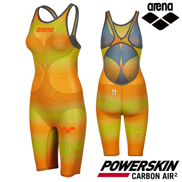 AVFIL99-YEL POWERSKIN CARBON AIR2 OPEN BACK 아레나 ARENA 반전신 선수용 수영복