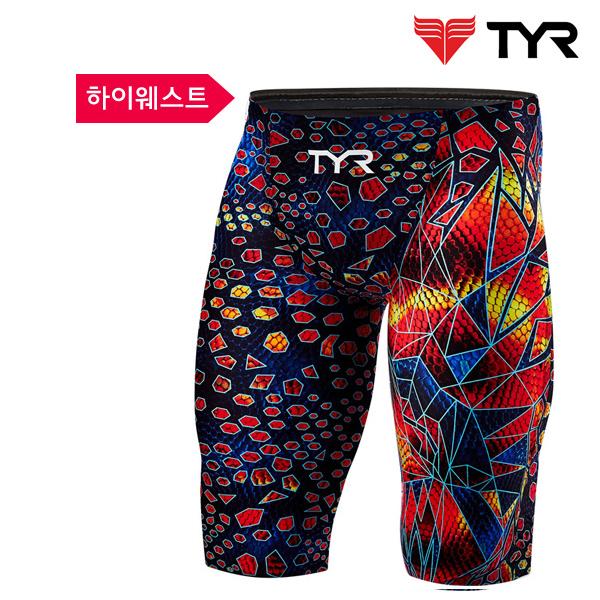 AVMH6A 004 (BLACK-MULTI) TYR 티어 경기용 5부 수영복-스윔잭증정