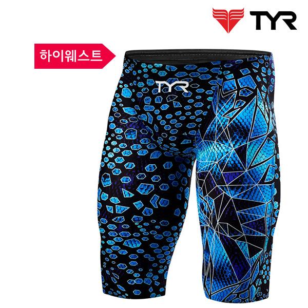 AVMH6A 011 (BLACK-BLUE) TYR 티어 경기용 5부 수영복