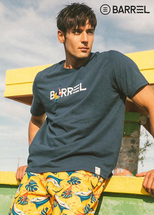 배럴 아울렛-유니섹스 배럴 티셔츠-딥 블루